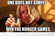 ahh it's haymitch! one certainly does not simply win the hunger games