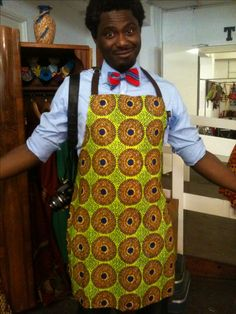 House of Arike's latest addition - African print aprons #AfricanPrint #HOA #Homedecor #AfricanInspired