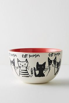 Love this! Cat person :) Anthropologie My Kind Of Person Bowl #anthropologie #anthrofave #anthrohome #catperson #catlady #bowl #ad