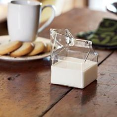 Glass Half Pint - glass cream server that looks like old school milk carton $14.00
