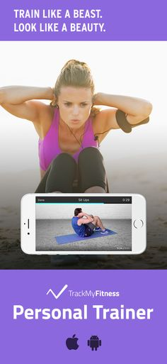 Stop spending your valuable time searching for workouts… Get toned abs faster using Personal Trainer's progress and calories burned tracking. Keep it fresh with new workout videos updated weekly! #trackmyfitness