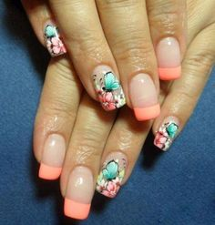 Celebrate the summer with this fun looking nail art design, Perfect for flashing around at your upcoming events. #Summer #Nail #Arts