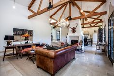 Large great room, fireplace and french doors  1080 Drake Street, Montara, CA 94037 - PlanOmatic.com