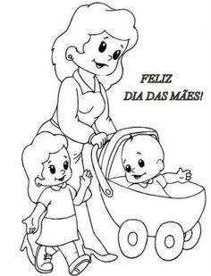 Imagens do Dia das Mães para colorir 4