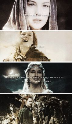 Women of Middle-earth. Well, except for that last one who isn't actually in the book... But, pretty design!