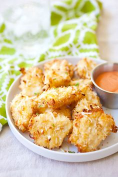 Parmesan Baked Chicken Nuggets - Crispy chicken nuggets with real chicken with no frying. Easy and yummy, plus adults & kids love the amazing nugget | rasamalaysia.com