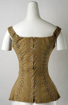 1820-1839 cotton and silk corset (quinnmburgess.wordpress.com)
