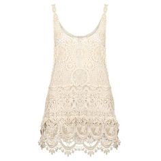 Beauty Tips, Celebrity Style and Fashion Advice from InStyle White Crochet Top, Crochet Summer Tops, Crochet Tank, Lace Tank, Primark, Fashion Advice, Dress Me Up, Lace Dress, Celebrity Style