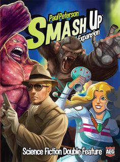 Smash Up: Science Fiction Double Feature | Smash Up is back with even more wild factions in the mix! Time Travelers allow you to reuse your cards time and time again Cyborg Apes take actions that attach to your minions and take them to a whole new level Super Spies use their mojo in espionage to plot out the future of you and your opponents Shape shifters could be anyone! Can be played on its own as a two-player game or combined with other Smash Up titles
