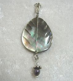 Reversible Carved Black Mother of Pearl Pendant by jpatterson312, $45.00