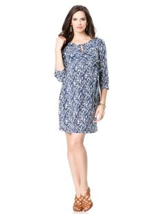 A Pea in the Pod 3/4 Sleeve Tie Detail Maternity Dress MATERNITY DRESS. TIE DETAIL. 3/4 SLEEVE. V-NECK.  #APeaInThePod #Apparel