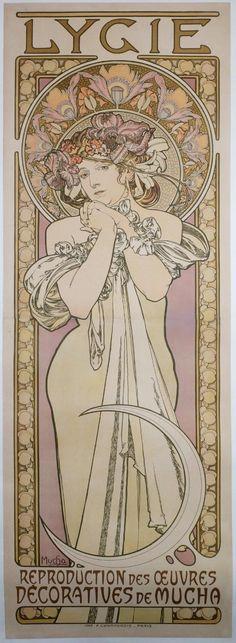 "Alphonse Mucha, ""Lygie"", 1901."