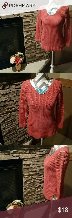 **Burnt Orange Sweater** Great shape. Super comfy and warm. LOFT Sweaters