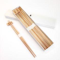 Yoshino Cedar Chopsticks-Set of 10 Pair Chopsticks and 6 Rests