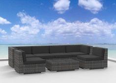 The furniture: Urban Furnishing - OAHU 7pc Modern Outdoor Backyard Wicker Rattan Patio Furniture Sofa Sectional Couch Set - Charcoal http://www.amazon.com/dp/B00CCEVSNA/ref=cm_sw_r_pi_dp_twZQtb14XM5AR0AN