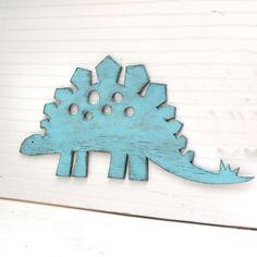 I NEED A BABY BOY!!!    Stegosaurus Large Sign Dinosaur Wall Art  Sign Kids Children's Room Decor. $79.00, via Etsy.