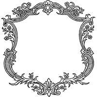 Vgosn Vintage Ornate Frame Border Clip Art Image