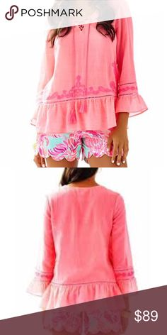 NWT M Tallulah Tunic Pink Sun Ray Lilly Pulitzer NWT Lilly Pulitzer Tallulah Tunic in Pink Sun Ray.  Please Bundle and Save!  🌴💗🌴 Retails $118.00. Lilly Pulitzer Tops Tunics