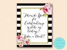 Thanks for coming Sign Thank you sign please by MagicalPrintable