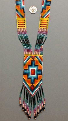 Bead Loom Patterns, Beading Patterns, Collar Indio, Southwestern Style, Loom Beading, Bead Art, Handicraft, Earrings Handmade, Seed Beads