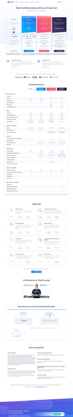 17 Best SaaS/Developer Pricing Pages images in 2017