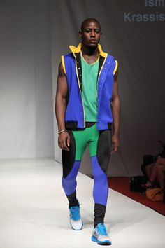 ismini krassismenou internal LCF graduate fashion show 2012. Active sportswear   ismini 'ikonic' collection. inspired by Rio 2016 Olympic Games. Performance enhancing mens apparel.