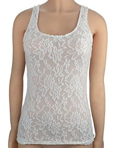 40a194e58de87 Sexy Women Sleeveless Lace Hollow Out Trim Camisole Tank Top (white01) at  Amazon Women s Clothing store