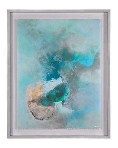 Peaceful and serene, this exquisite work of art is printed on rag paper and sits under glass. A simple silver MDF frame completes the look. May be hung horizontally or vertically.