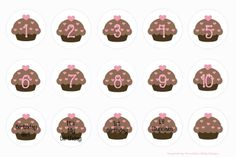 Laken's Creations: YUMMY CUPCAKES! FREE BOTTLE CAP IMAGES!