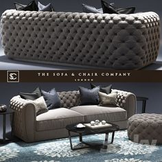 Windsor sofa_The sofa and chair company_Cromwell table_Tufted sofs