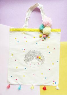 Customisation tote-bag printemps diy