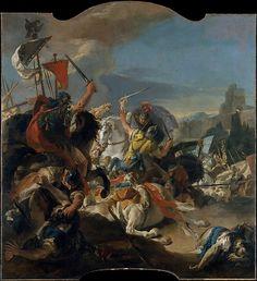 The Battle of Vercellae. Giovanni Battista Tiepolo (Italian, Venice 1696-1770 Madrid. 1725-29. oil on canvas.