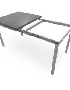 This Echo table is a dinner table which extends to double its size at long. It can seat people, depending on seating arrangements. Expand Furniture, Outdoor Furniture, Furniture Ideas, Folding Kitchen Table, Folding Tables, Echo Bedding, Convertible Furniture, Build A Table, Kitchen Table Makeover