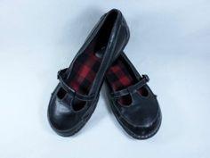 Womens shoes MELROSE AVE black plaid mary janes HIPSTER BOHO ROCKABILLY sz 9 M
