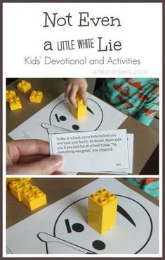 Not Even a Little White Lie Kids Devotional and Activities (FHE or Primary lesson/object activity idea)! Bible Object Lessons, Fhe Lessons, Youth Lessons, Bible Study For Kids, Bible Lessons For Kids, Kids Church Lessons, Kids Church Crafts, Sunday School Lessons, Sunday School Crafts