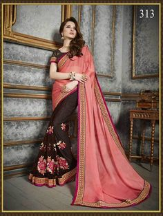 Designer Partywear Indian Saree Dress Wedding Pakistani Bollywood Sari Ethnic…