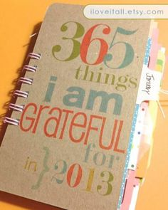 2013 Gratitude Journal (January - December 2013) . Everyday Daily Document Daybook Book Diary . Thankful Grateful // via Etsy.