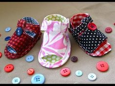 ▶ How to Sew Baby Tiptoe Sandals - YouTube patterns sold on her Etsy link