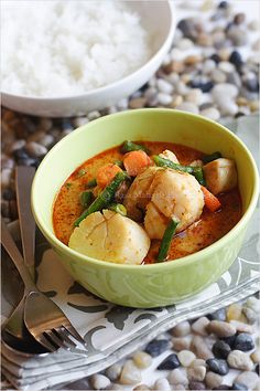 Thai Red Curry - can be made with chicken, seafood, pork, or completely vegetarian.
