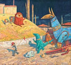 Final artwork for 'Rules of Summer' by Shaun Tan