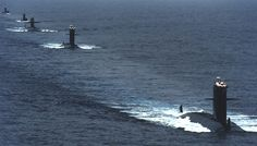 A series of Rubis Amethyste French Class Nuclear Attack Submarines in operation