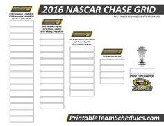 nascar chase schedule 2016