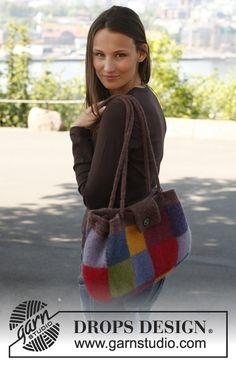 """Felted DROPS bag in """"Alaska"""". ~ DROPS Design"""