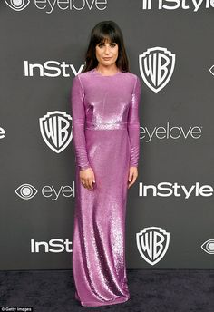Dazzling: Lea Michele looked every inch the after-party princess as she attended the Warner Bros and InStyle 18th annual Golden Globes afterparty on Sunday night