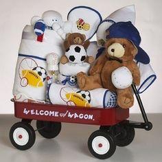 Sports Baby Shower Wagon