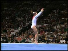 watch the interesting move she does at the 0:50 mark, (most of the rest of this routine is pretty mediocre, but...) don't think I've seen that move before!  Mary Beth Arnold - Floor Exercise - 1996 Olympic Trials - Women - Day 2