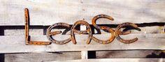 Sign. 7 letters. Horseshoe Name Plate. Horseshoes. by ShabbyWorks