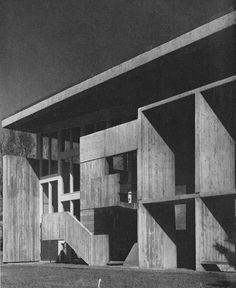 Dormitory, St. John's Preparatory School, Marcel Breuer, Collegeville, Minnesota, 1960s