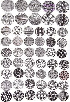 #zentangle designs. I'm going to try to incorporate some of these into mine
