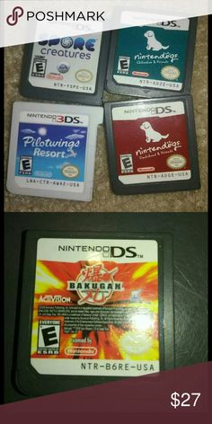 ULTRA RARE DS GAMES FOR CHEAP! *DEAL OF THE DAY!!* ALL WORK AND NEED HOMES! Nintendo Accessories Bags